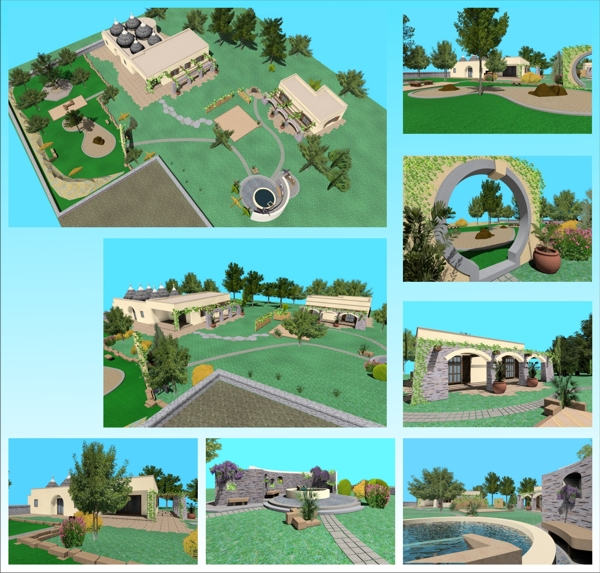 Progettazione giardini ulivi secolari piante e giardini - Giardino con ulivi ...